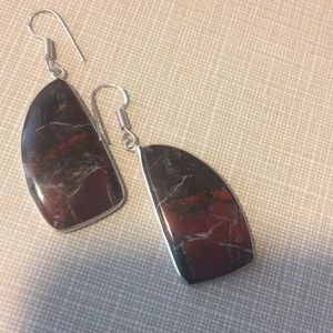 Jewelry - Unique rainbow Jasper Artisan Earrings